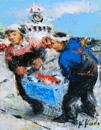 工藤和男「魚運ぶ人」